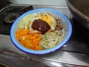 Bibimbap with egg