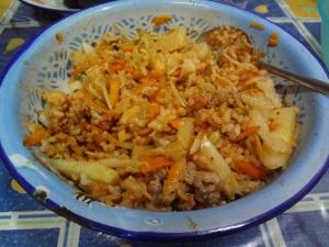 Bibimbap ready to be served
