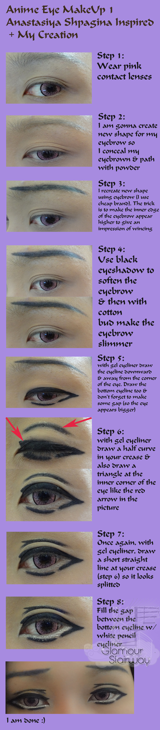 Step by Step Anime Eye Make Up 1