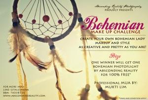 bohemian giveaway+makeup challenge