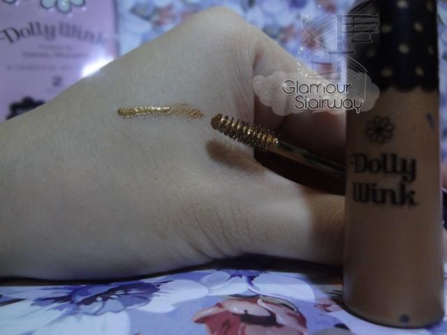 dolly wink eyebrow mascara #2 mocha swatch - keikoxoxo