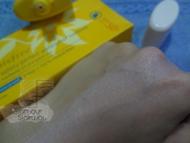 Innisfree Eco Safety Perfect Waterproof Sunblock result - keikoxoxo
