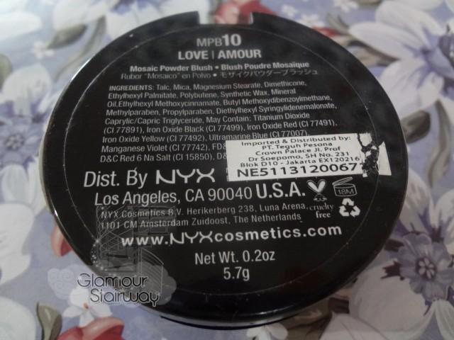 NYX Mosaic Powder ingredients - keikoxoxo